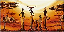 Pintura sobre lienzo Retro Mujeres africanas Arte