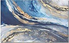 Pinturas Al Pintura Al Óleo Pintado A Mano,Blue