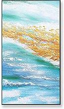 Pinturas Al Pintura Al Óleo Pintado A Mano,Mar