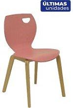 Piqueras Y Crespo - Pack 2 sillas Buendia rosa/haya
