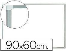 Pizarra blanca q-connect lacada magnetica marco de