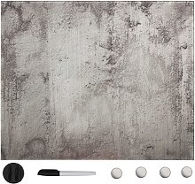 Pizarra magnética de pared vidrio 40x40 cm - Gris