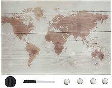 Pizarra magnetica de pared vidrio 50x30 cm