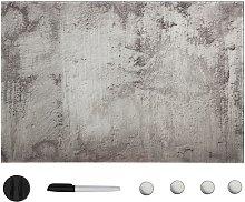 Pizarra magnética de pared vidrio 60x40 cm - Gris