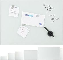 Pizarra Magnética Grande, Cristal, Blanco, 80 x