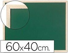 Pizarra verde marco de madera 60x40 cm sin repisa
