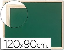 Pizarra verde q-connect marco de madera 120x90 cm