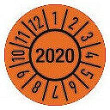 Placa de inspección de un año, 30 mm, año 2020