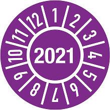 Placa de inspección de un año, diámetro 15 mm,