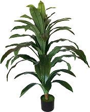 Planta artificial Dracena de 100 cm de altura en
