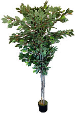 Planta Ficus verde artificial de 180 cm de altura