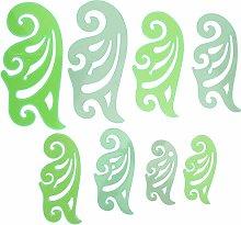 Plantilla de dibujo curvo, 8 piezas Plantilla de