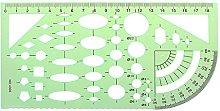Plantilla geométrica Verde con Regla,