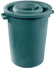 PLASTIME Cubo de la Basura sin Tapa, Verde, 50