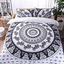 POMJK - Juego de ropa de cama bohemia, estilo