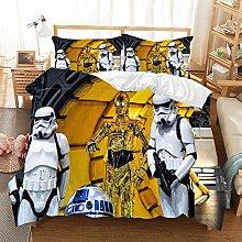 POMJK-Star Wars - Juego de cama de 3 piezas, funda
