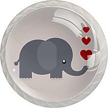 Pomos de cocina de elefante animal para gabinetes,