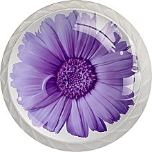 Pomos de cristal con diseño de flores rosas para