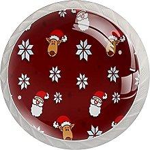 Pomos de Navidad con diseño de Papá Noel (4