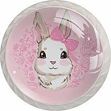 Pomos y Tiradores Infantiles Conejo Lindo Rosa