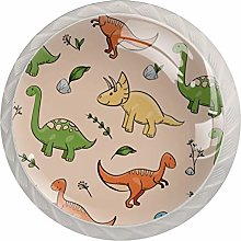 Pomos y Tiradores Infantiles Dinosaurio colorido
