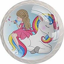 Pomos y Tiradores Infantiles Niña y unicornio
