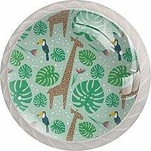 Pomos y Tiradores Infantiles Verde jirafa