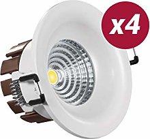 POPP Foco LED Downlight 9W Blanco color calido