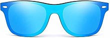 POPshawn Moda Gafas de Sol de Espejo de Madera,
