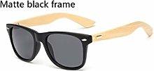 POPshawn Moda Gafas de Sol de Madera, bambú