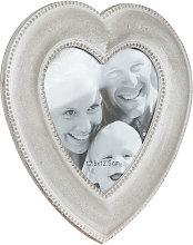 Portafoto de apoyo con forma de corazón de madera