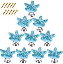 POXL Pomos y Tiradores Infantiles, 10Pcs Estrella