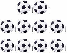 POXL Pomos y Tiradores Infantiles, 10Pcs Fútbol