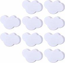 POXL Pomos y Tiradores Infantiles, 10Pcs Nubes