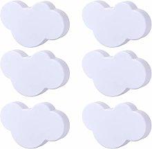 POXL Pomos y Tiradores Infantiles, 6 Pcs Nubes