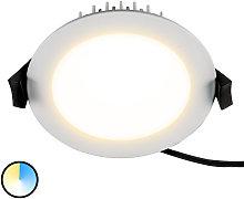 Práctico foco empotrado LED Lino, 13 W
