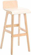 Práctico taburete de comedor nórdico, madera