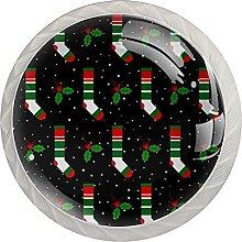 Preciosas medias navideñas paquete de 4 pomos de