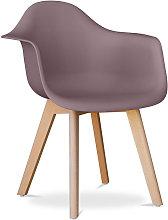 Premium Silla diseño Dawick Topo