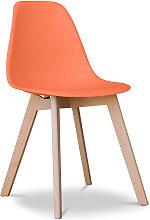 Premium Silla diseño Deswick Naranja
