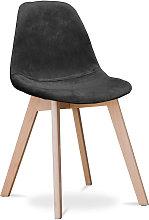 Premium Silla diseño Deswick - Tela Negro
