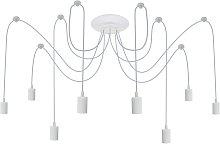 PrimeMatik - Lámpara para 8 bombillas de rosca