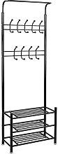 PrimeMatik - Perchero metálico para recibidor con