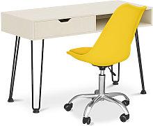 Privatefloor - Mesa de escritorio de madera patas