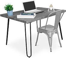 Privatefloor - Mesa de escritorio Hairpin Gris