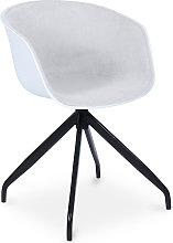 Privatefloor - Silla de oficina blanca de diseño