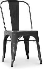 Privatefloor - Silla estilo Tolix con asiento