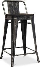 Privatefloor - Taburete Tolix de madera con