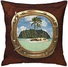 Protector de funda de almohada cuadrada hawaiana