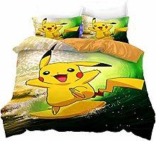 Proxiceen Pokemon - Juego de ropa de cama (fibra
